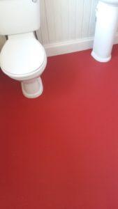 Photo of red Bathroom vinyl flooring - PS Carpets