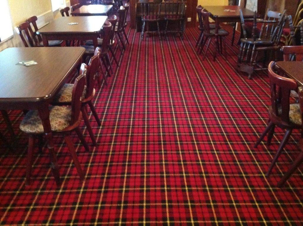 Photo of Tartan Public House carpet - PS Carpets